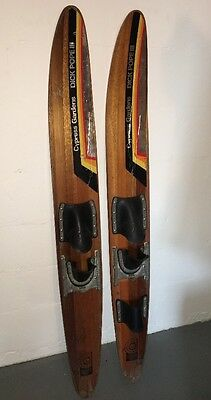"Slalom Water Skis Cypress Gardens (1936-2009) Dick Pope Iii  57"" Rare Set"