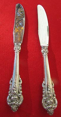 """Grande Baroque Pattern 2 Individual Butter Knife Wallace Sterling Silver 6 3/4"""""""
