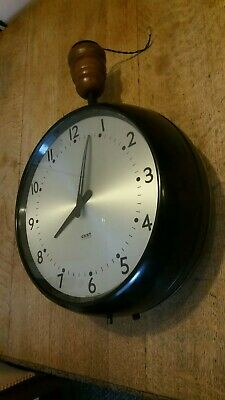 Gent Of Leicester 2 Sided / Double Faced Industrial Bakelite Clock