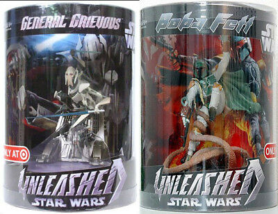 Star Wars Unleashed Boba Fett & General Greivous Sarlacc Pit Target Exclus Tube