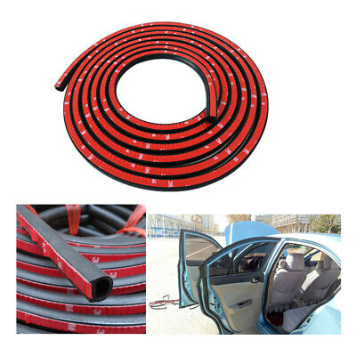D-Shaped 4M Door Rubber Weather Seal Hollow Strip Dust-proof Black For Car Truck