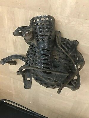 antique corn sheller R & H cast iron ROOT HEATH hand crank VINTAGE OLD FARM TOOL
