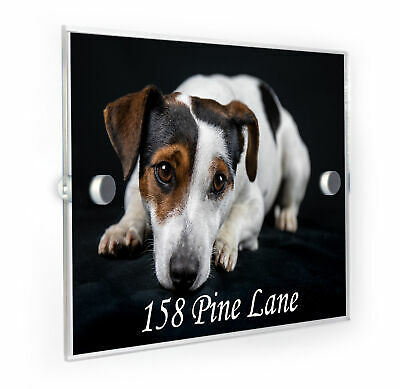 Jack Russell Dog And Address House Number Plaque Home Address Sign