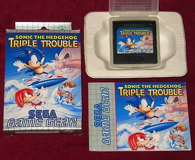 Sega Game Gear - Sonic The Hedgehog Triple Trouble! Complete Original Rare Euro