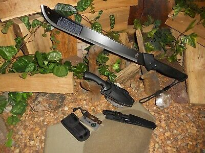 Machete/Bowie/Harpoon/Spear tip/Compass/Flint/Full tang/survival/Gerber gator