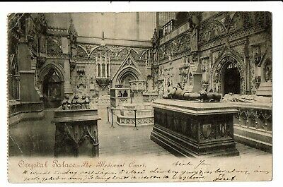CPA -Carte Postale -Royaume Uni - London- Crystal Palace- The Mediaeval Court