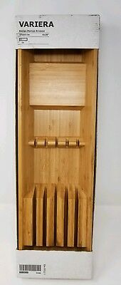 IKEA Bamboo Drawer Knife Utensil Kitchen Holder Variera Marcus Arvonen -NIB
