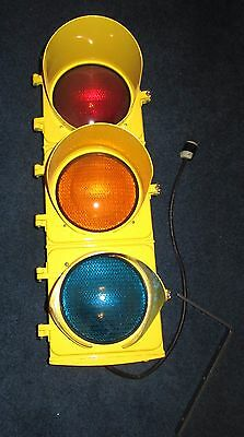 ***L@@K Rare Vintage Restored Traffic Light - Works Great Flashes Custom Great**