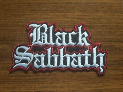 Black Sabbath,iron On White With Red Edge Embroidered Patch