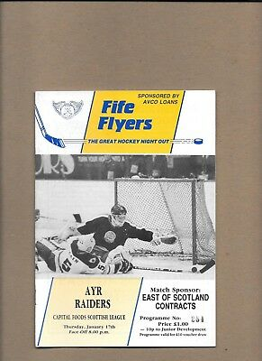 Fife Flyers v Ayr Raiders Programme 17th January 1991 **MINT**
