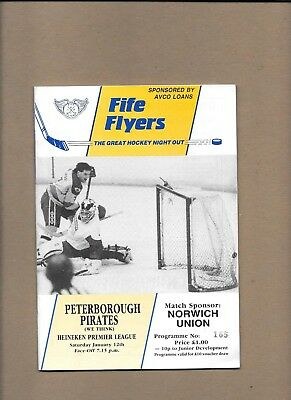 Fife Flyers v Peterborough Pirates Programme 12th January 1991 **MINT**