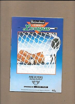 Fife Flyers v Nottingham Panthers Programme 9th November 1985 **MINT**