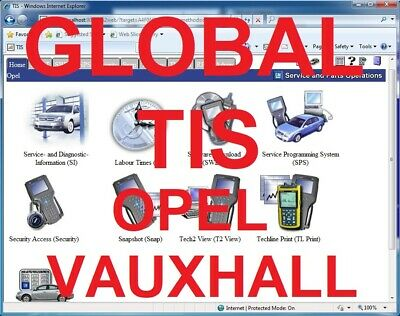 VAUXHALL OPEL Global Tis Security Access  TECH2WIN personal installation TeamVie