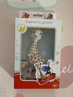 Sophie The Giraffe La Baby Natural Rubber Teether Pacifier Squeaker Vulli Opened