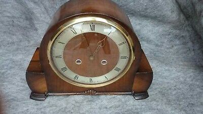 Vintage British 'Smiths Enfield' 8-Day Striking Mantel Clock G.W.O
