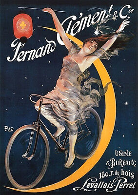 Fernand Clement & Cie French Cycle Poster 1897 13 x 18 Giclee print