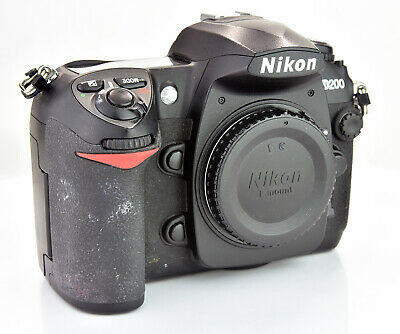 Nikon D D200 10.2MP Digital SLR Camera - Black (Body Only)