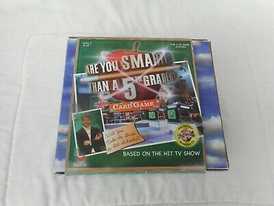 Cardinal 2008 Are you Smarter Than a 5th Grader? Card Game Complete Sealed NOS