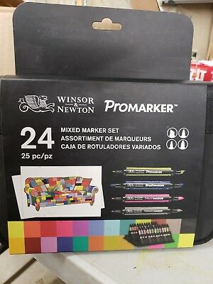 Winsor & Newton Promarker, Mixed Marker Set 24, 25pc