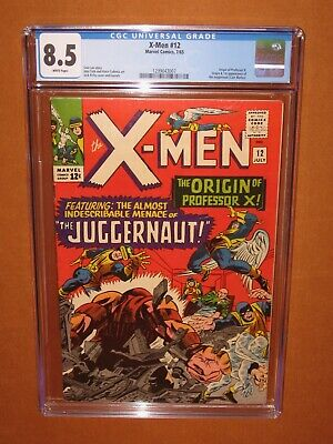 X-Men #12  A CGC 8.5 RARITY (a BEAUTY with WHITE pages!) 12 HD pix Ships INSURED