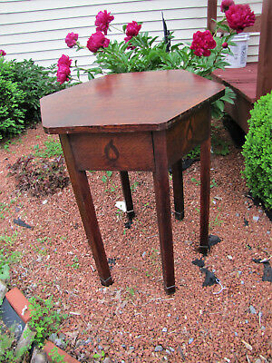 Superb & Rare Early Stickley Brothers Hexagon Top Table with Inlays  inv5174