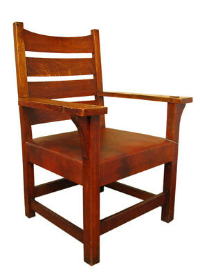Antique Gustav Stickley Early Armchair  inv1305