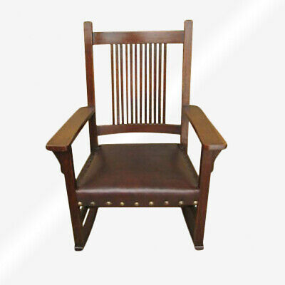 Antique L&jG Stickley Spindled Rocking Chair  inv6420
