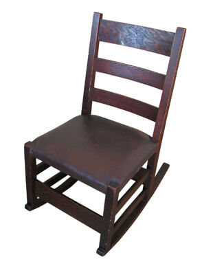Antique Gustav Stickley Sewing Rocking Chair  inv6100