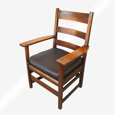 Superb Antique L&jG Stickley Armchair  inv133