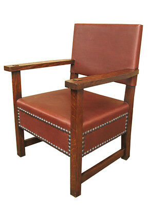 Antique L&jG Stickley Large Armchair   inv9718