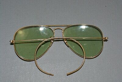 2109672be0 Vtg Wwii Ww2 B L Bausch   Lomb Ray Ban Aviator Clear Glass Lens Eyeglasses