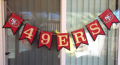 Nfl San Francisco 49ers Banner Happy Birthday Anniversary Custom Name Handmade