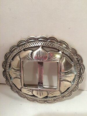 Vintage Silver Plated Women's Belt Buckle Made in Taiwan R.O.C.