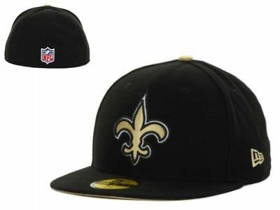5d1afa0039471f NWT License New Orleans Saints New Era 59Fifty NFL Size 6 5/8 Black Fitted
