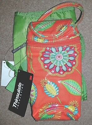 Kalencom insulated bottle travel bag with co-ordinating change mat. New + tags!