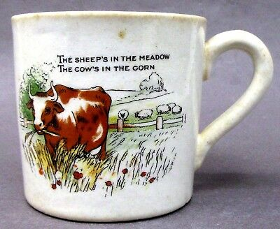 1930's COW'S IN THE CORN ceramic coffee mug by MEDALTA Canada *