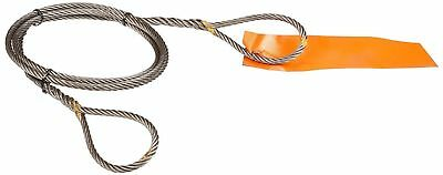 Mazzella Hand Taper and Concealed Wire Rope Sling, Eye-and-Eye, 6 x 37 Fiber Cor