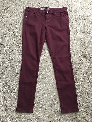 d76ad95b7af0a MOSSIMO Womens Size 6 Fits 8 Burgundy Skinny Jeans 31