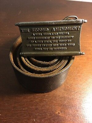 Vintage THE SECOND AMENDMENT Belt Buckle With Belt