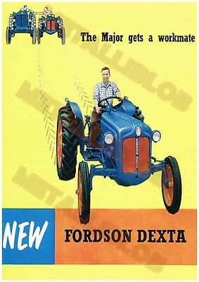 Fordson Dexta Tractor - Poster (A3)