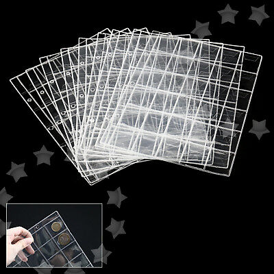 10Pcs 30 Pockets Classic Coin Album Collect Pages Holders Storage Collection Set