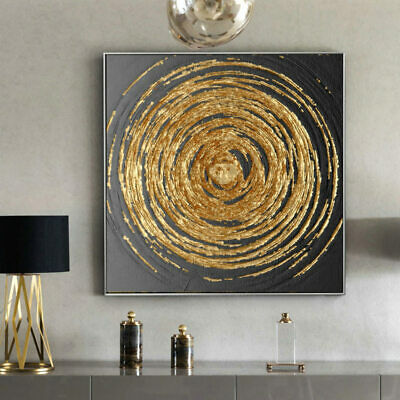 Modern Wall Art Abstract Gold Line Canvas Painting Print Poster Room Home Decor