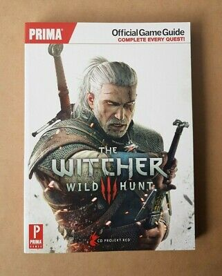 The Witcher III 3 Wild Hunt Prima Official Strategy Game Guide Softcover Book