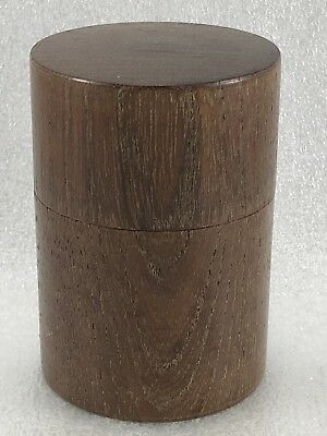 BT86 Japanese Natural wood Grain Tea  CADDY Container Tea Ceremony