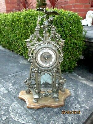 German 8 Day Vintage Mantel Clock