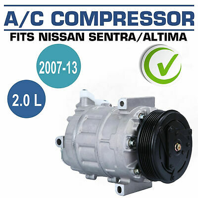 New AC Compressor With Clutch A/C For Nissan Sentra 2007-2013 L4 2.0L