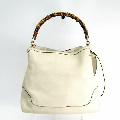 dff8dbb99ac0 GUCCI MEDIUM DIANA Bamboo Cream Leather Shoulder Bag - $456.00 ...