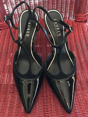 258ae950dfc RALPH LAUREN PATENT Leather Penny Loafers Womens 9 Glenda Gray Taupe ...
