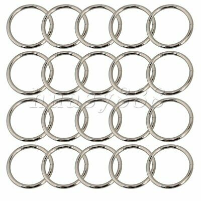 20PCS Metal Round Rings Purse Webbing Handbag Craft Buckles Adjusters