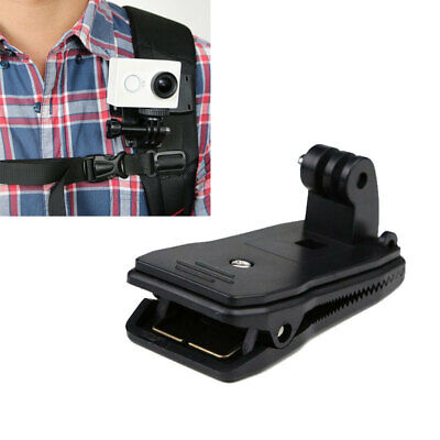 360° Rotary Quick Release Backpack-Clip Clamp Mount For GoPro Hero 2 3 3+ Came
